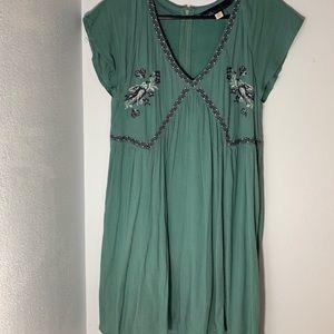 Vintage Embroidered Blue Dress